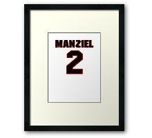 NFL Player Johnny Manziel two 2 Framed Print