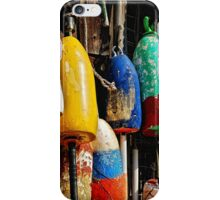 Buoys from Russell's Lobsters ... Fresh Off The Boat iPhone Case/Skin