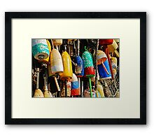 Buoys from Russell's Lobsters ... Fresh Off The Boat Framed Print