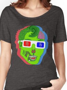 Hipster Zombie Now in 3D  Women's Relaxed Fit T-Shirt