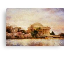 Jefferson Memorial Just Past Dawn Canvas Print
