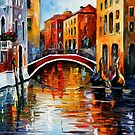Canal In Venice — Buy Now Link - www.etsy.com/listing/209819075 by Leonid  Afremov