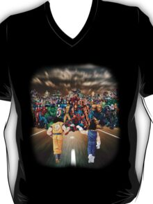 Saiyans vs Marvel's Heroes T-Shirt