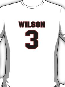 NFL Player Russell Wilson three 3 T-Shirt