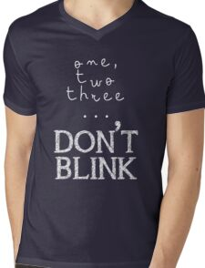 One, two three... Don't Blink Mens V-Neck T-Shirt