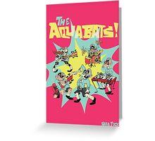 The Aquabats! Super Print! Greeting Card