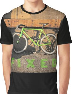 Green Fixie Graphic T-Shirt