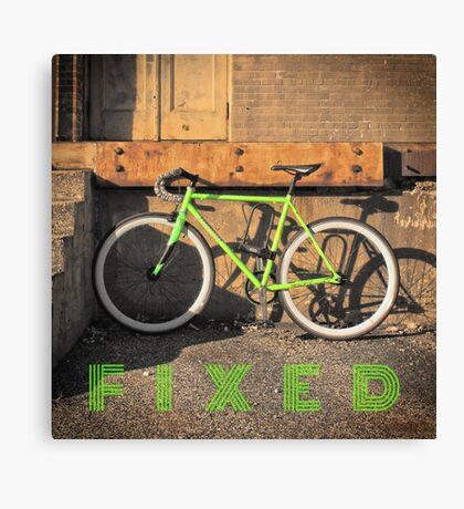 Green Fixie Canvas Print