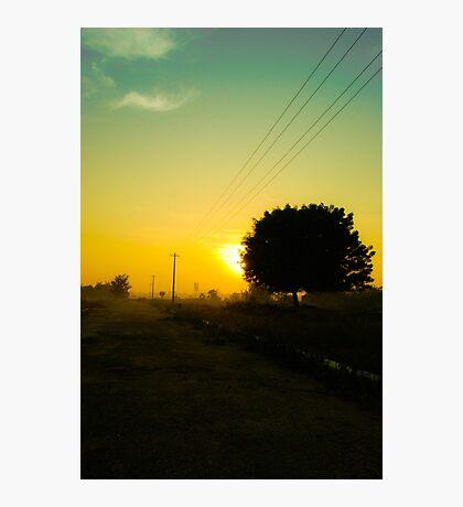 An Orange Sunrise Photographic Print