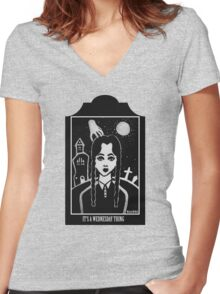 Its a Wednesday Thing Women's Fitted V-Neck T-Shirt