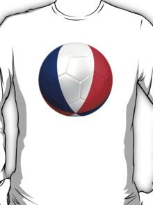 France - French Flag - Football or Soccer 2 T-Shirt