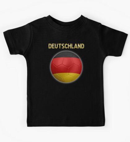 Deutschland - German Flag - Football or Soccer Ball & Text 2 Kids Tee