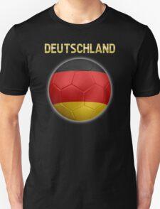 Deutschland - German Flag - Football or Soccer Ball & Text 2 T-Shirt