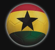 Ghana - Ghanaian Flag - Football or Soccer 2 Kids Clothes
