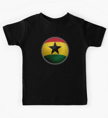 Ghana - Ghanaian Flag - Football or Soccer 2 Kids Tee