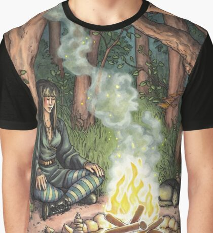 Everyday Witch Tarot - The Hermit Graphic T-Shirt