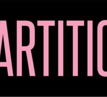 Partition Sticker