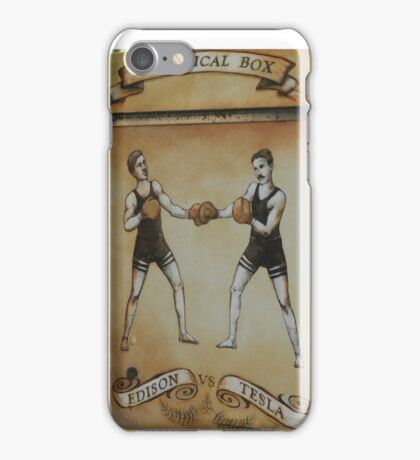 Edison and Tesla Electrical Box iPhone Case/Skin