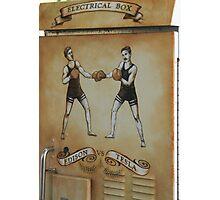 Edison and Tesla Electrical Box Photographic Print
