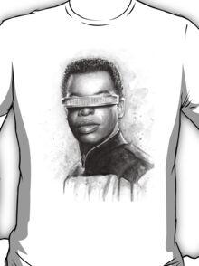 Geordi La Forge Portrait Star Trek Art T-Shirt