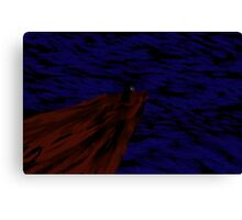 Robed Figure at the Cliff Canvas Print