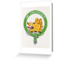 Clan Campbell Scottish Crest Greeting Card