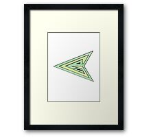Green Arrow Symbol Framed Print