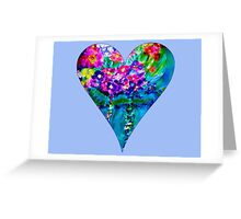 Periwinkle Floral Heart Designer Art Gifts Greeting Card