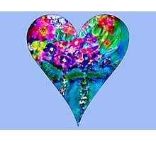 Periwinkle Floral Heart Designer Art Gifts Photographic Print
