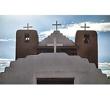 4 Crosses of Taos Pueblo Church Photographic Print