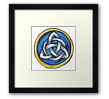 Celtic Dragons Eye Stylized Framed Print