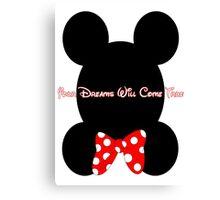 Mickey and Minnie Minimalist Design Canvas Print