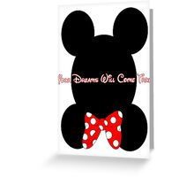 Mickey and Minnie Minimalist Design Greeting Card