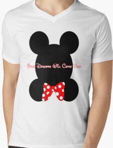 Mickey and Minnie Minimalist Design Mens V-Neck T-Shirt