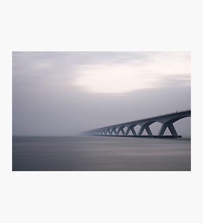 Bridge Fading in Fog Photographic Print