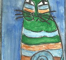 Abstract Cat by RobynLee
