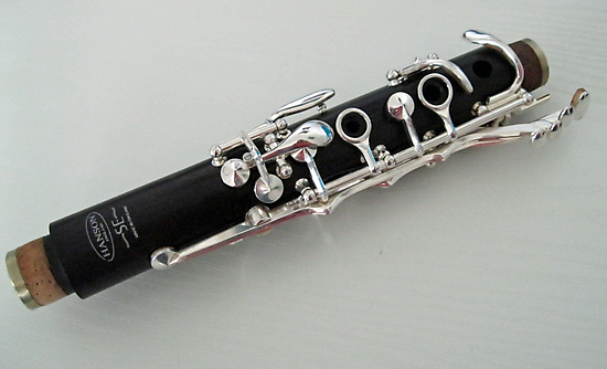 Silver on Black - Clarinet Headjoint  by BlueMoonRose