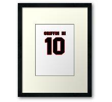NFL Player Robert Griffin III ten 10 Framed Print