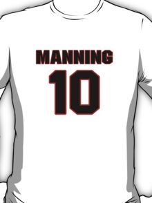 NFL Player Eli Manning ten 10 T-Shirt