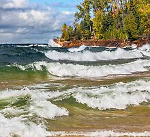 Lake Superior Surf by Kenneth Keifer