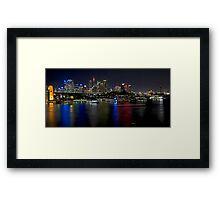 City Lights Across the Water - Sydney Framed Print