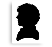 Sherlock Silhouette  Canvas Print