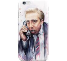 Nicolas Cage | A Vampire's Kiss | Watercolor Painting iPhone Case/Skin