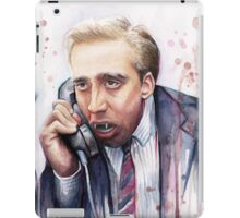 Nicolas Cage | A Vampire's Kiss | Watercolor Painting iPad Case/Skin