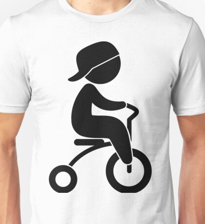 Child drives with Tricycle Unisex T-Shirt