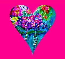 Pink Floral Heart Designer Art Gifts by innocentorigina