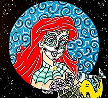 Sugar Skull Ariel by Katherine  OGane