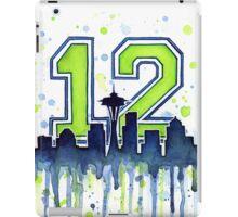 Seattle Seahawks 12th Man Fan Art iPad Case/Skin