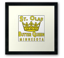 Saint Olaf Butter Queen Minnesota Framed Print