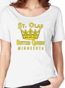 Saint Olaf Butter Queen Minnesota Women's Relaxed Fit T-Shirt